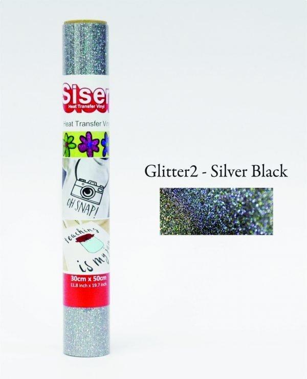 Moda Glitter2 Silver Black