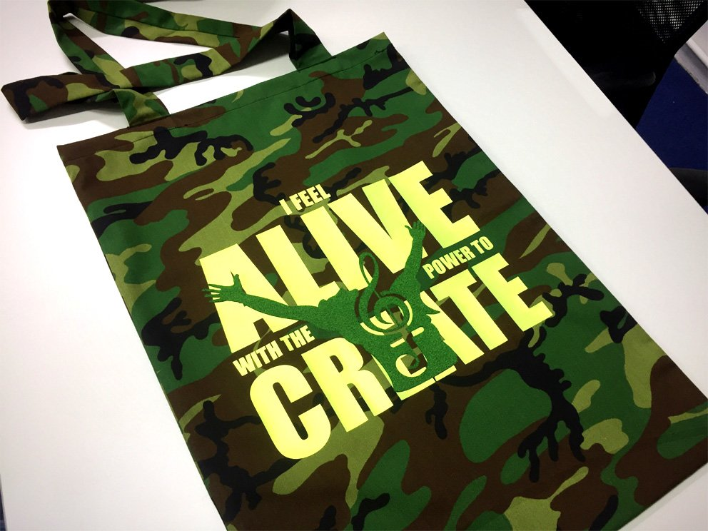 Camouflage Design Cotton Tote Bag ** Limited while stocks last! **