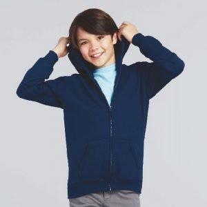 Youth Hooded Zipper sweatshirt